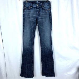 7 For All Mankind bootcut blue stitching jeans, 26